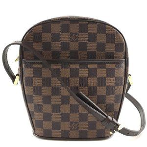 Ipanema Long Strap Shoulder Brown Damier bag